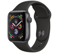 Apple Watch Sport Series 4 44mm Space Gray Aluminum Case with Black Sport Band